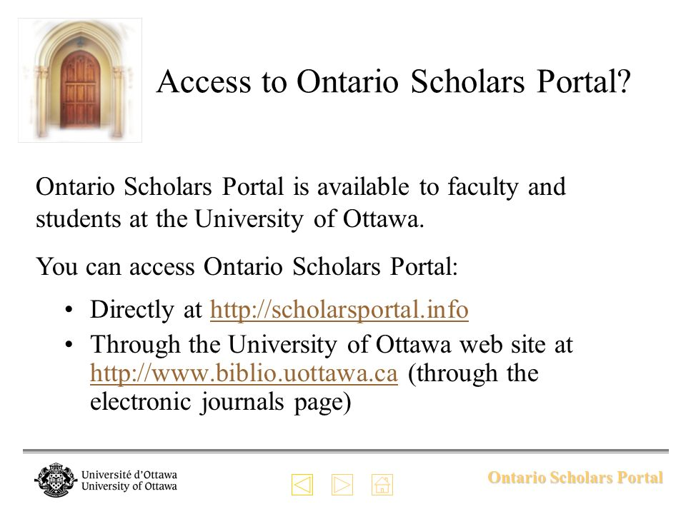 Ontario Scholars Portal Specific Features: Current Awareness When you save a search, Ontario Scholars Portal uses it to create an alert.