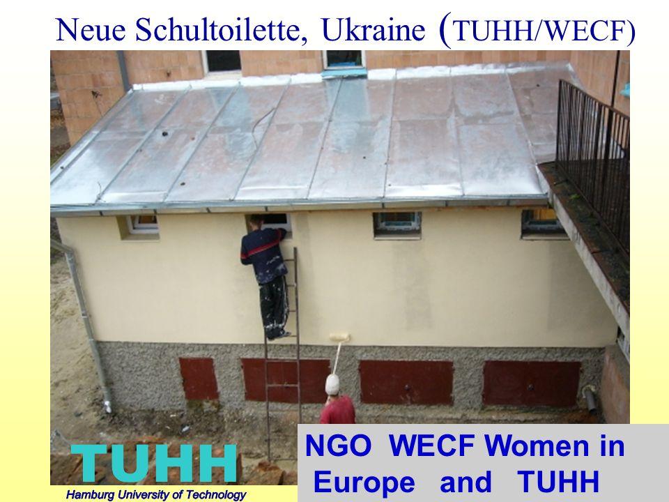 Neue Schultoilette, Ukraine ( TUHH/WECF) NGO WECF Women in Europe and TUHH