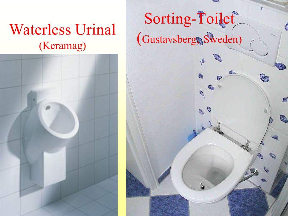 Sorting-Toilet ( Gustavsberg, Sweden) Waterless Urinal (Keramag)