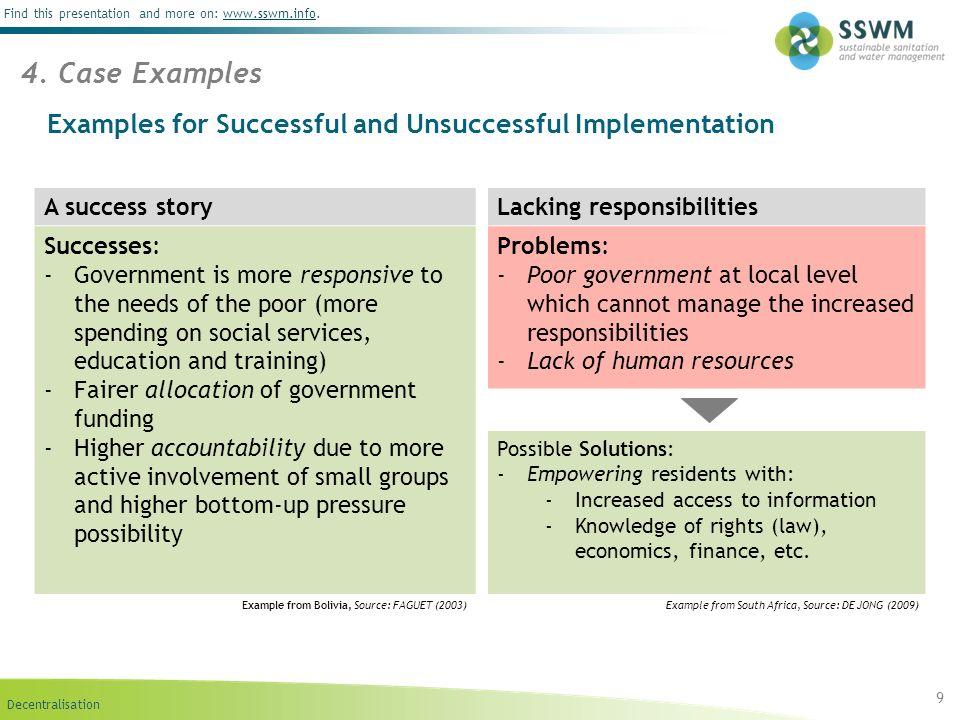 Decentralisation Find this presentation and more on: www.sswm.info.www.sswm.info 10 5.
