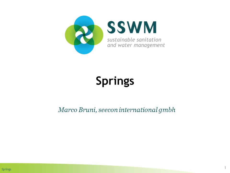 Springs 1 Marco Bruni, seecon international gmbh
