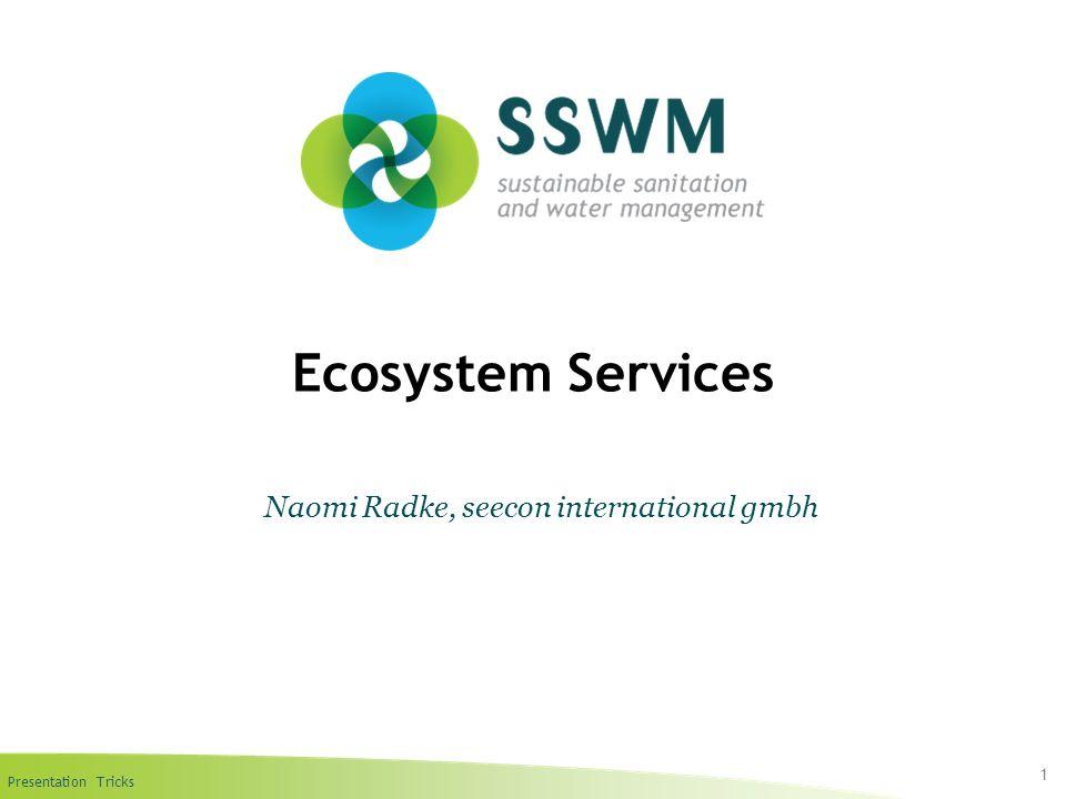 Presentation Tricks Ecosystem Services 1 Naomi Radke, seecon international gmbh
