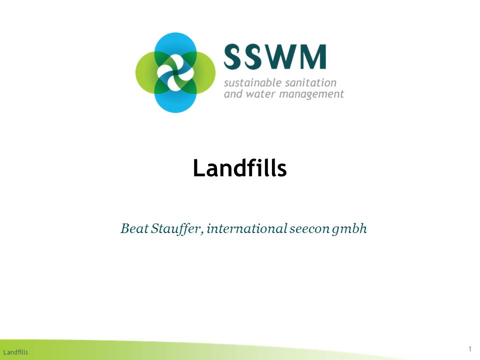 Landfills Find this presentation and more on: www.ssswm.info.www.ssswm.info Bioreactor Landfill (WM 2004) 12 3.