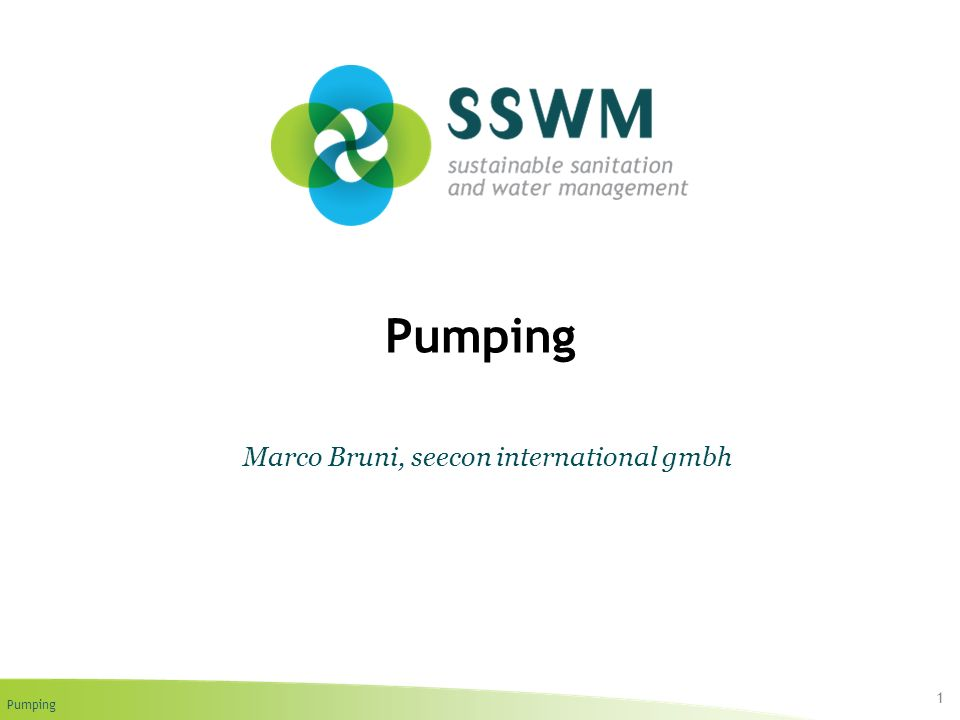 Pumping 1 Marco Bruni, seecon international gmbh
