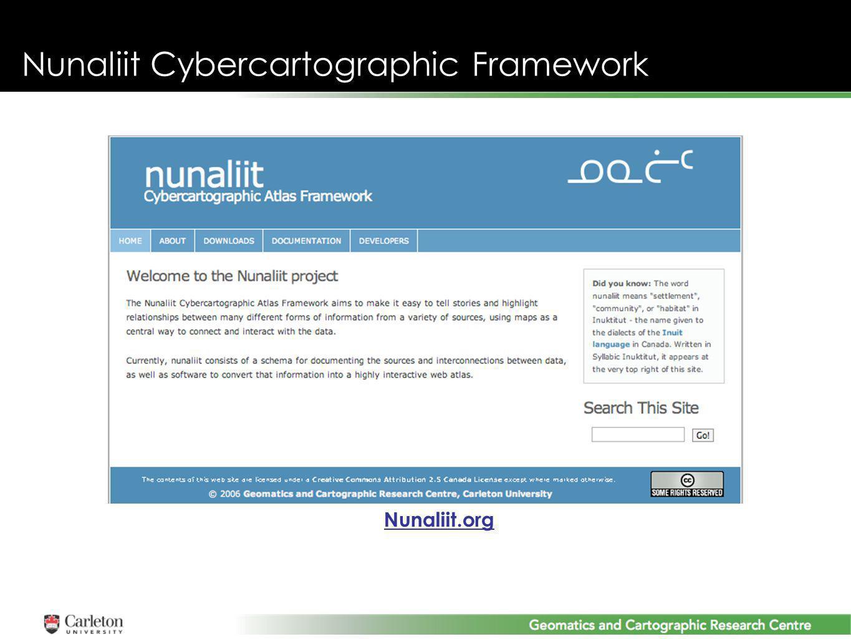 Nunaliit Cybercartographic Framework Nunaliit.org