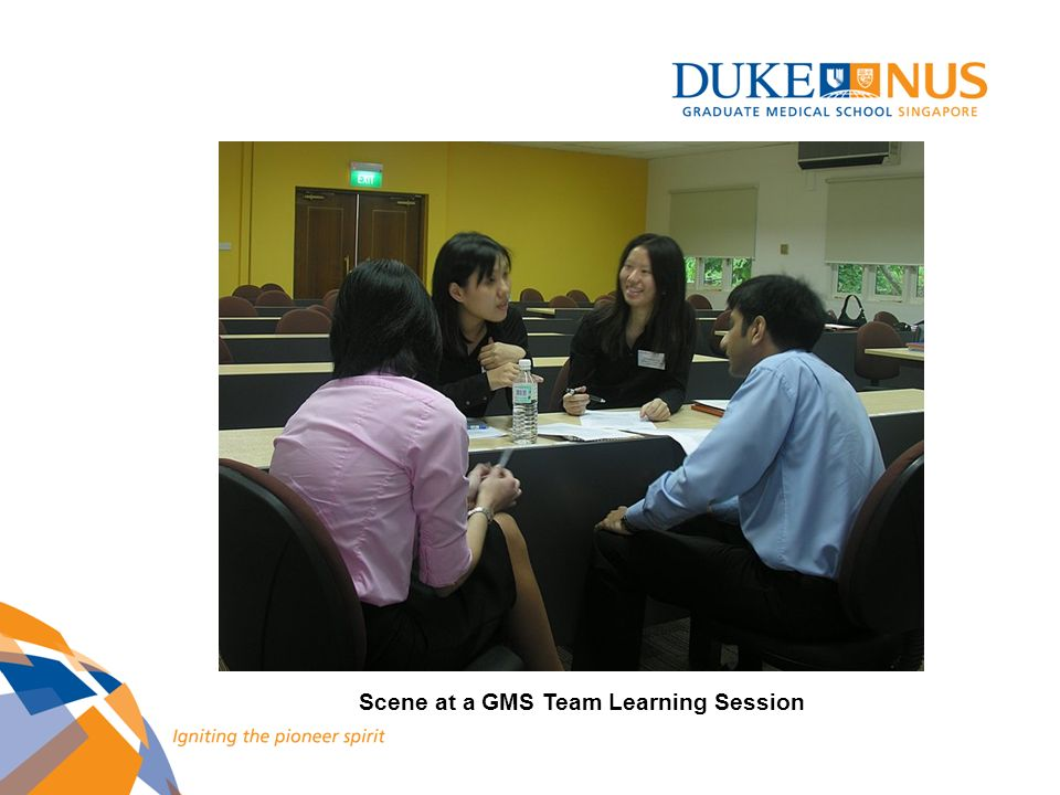 Scene at a GMS Team Learning Session