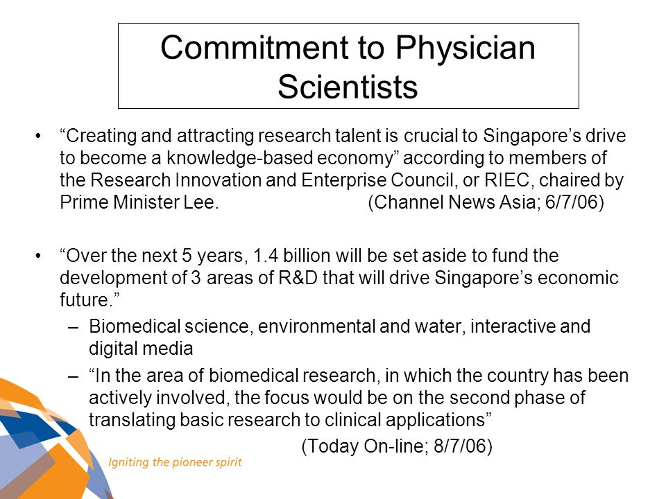 Creating and attracting research talent is crucial to Singapores drive to become a knowledge-based economy according to members of the Research Innova