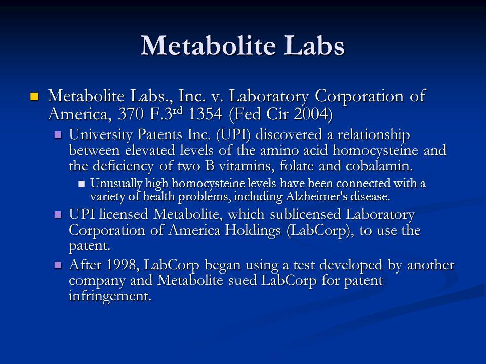 Metabolite Labs Metabolite Labs., Inc. v.
