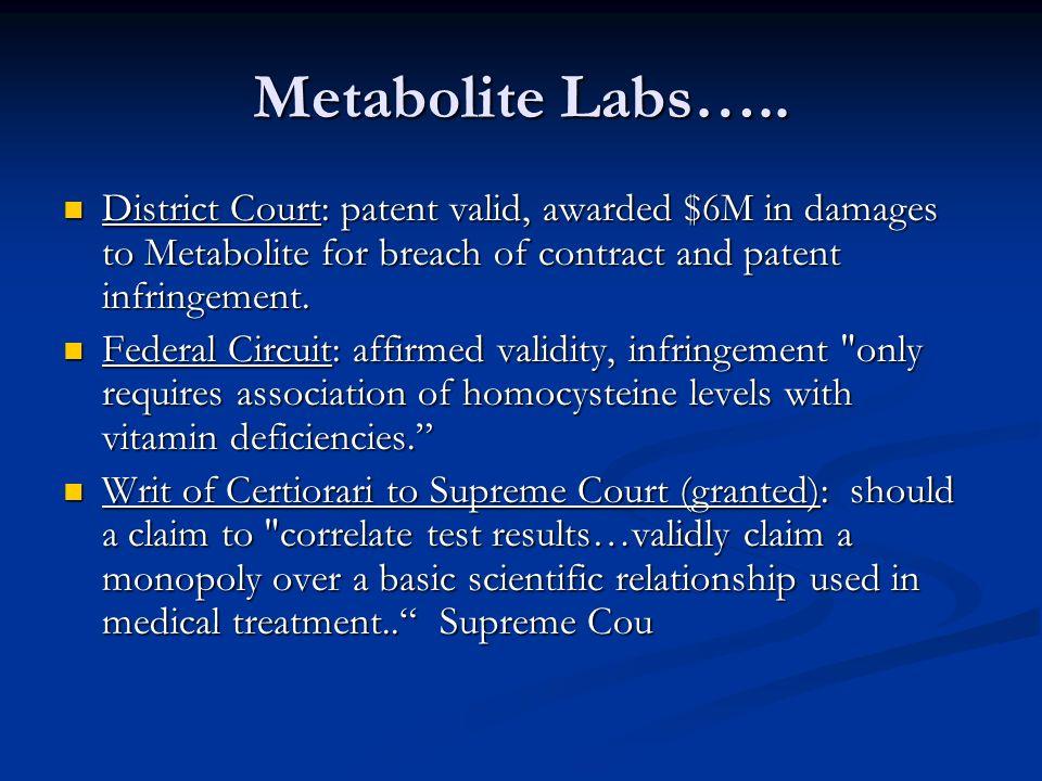 Metabolite Labs…..