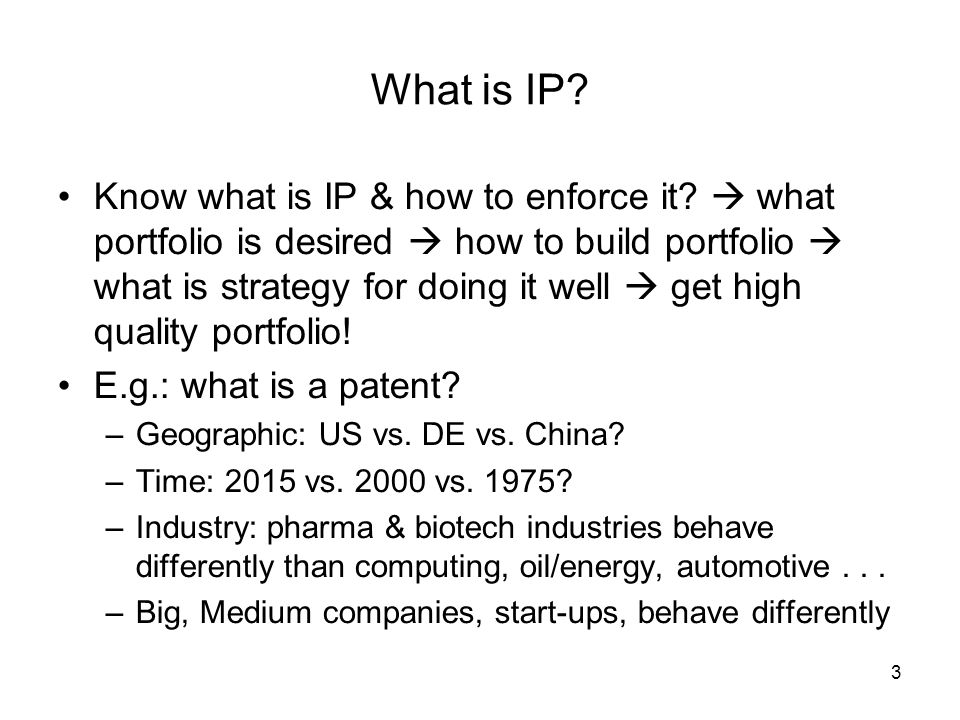 3 What is IP.Know what is IP & how to enforce it.