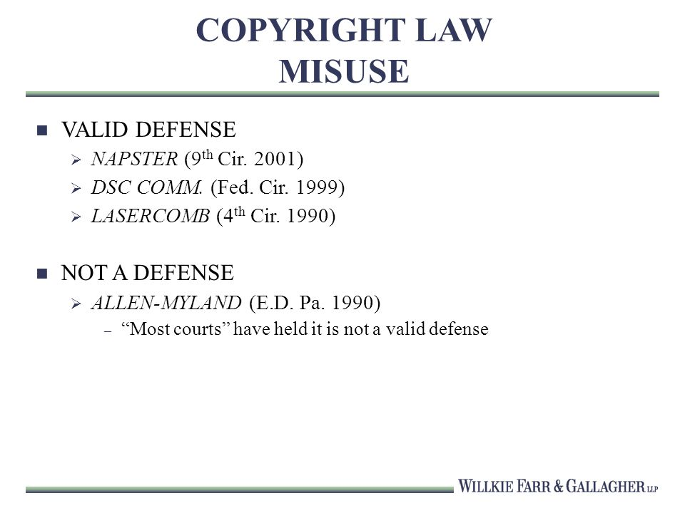 COPYRIGHT LAW MISUSE VALID DEFENSE NAPSTER (9 th Cir.