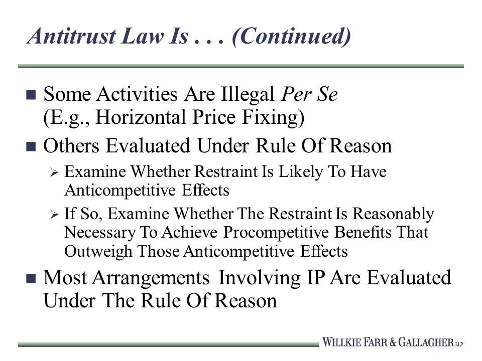 Antitrust Law Is...