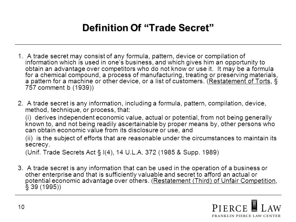 10 Definition Of Trade Secret 1.