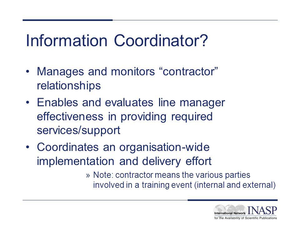 Information Coordinator.