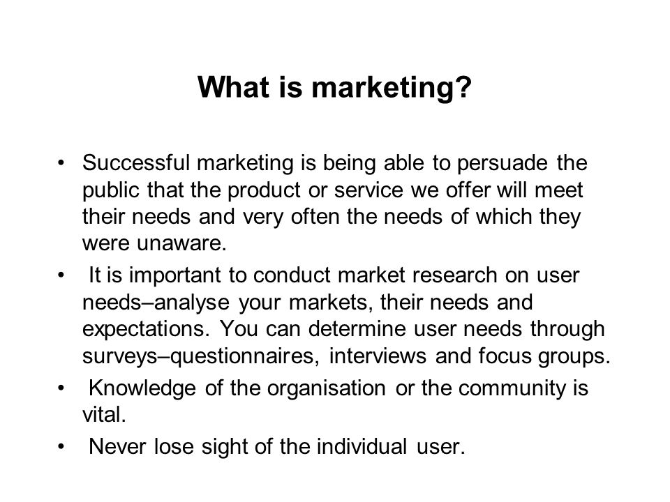 What is marketing.