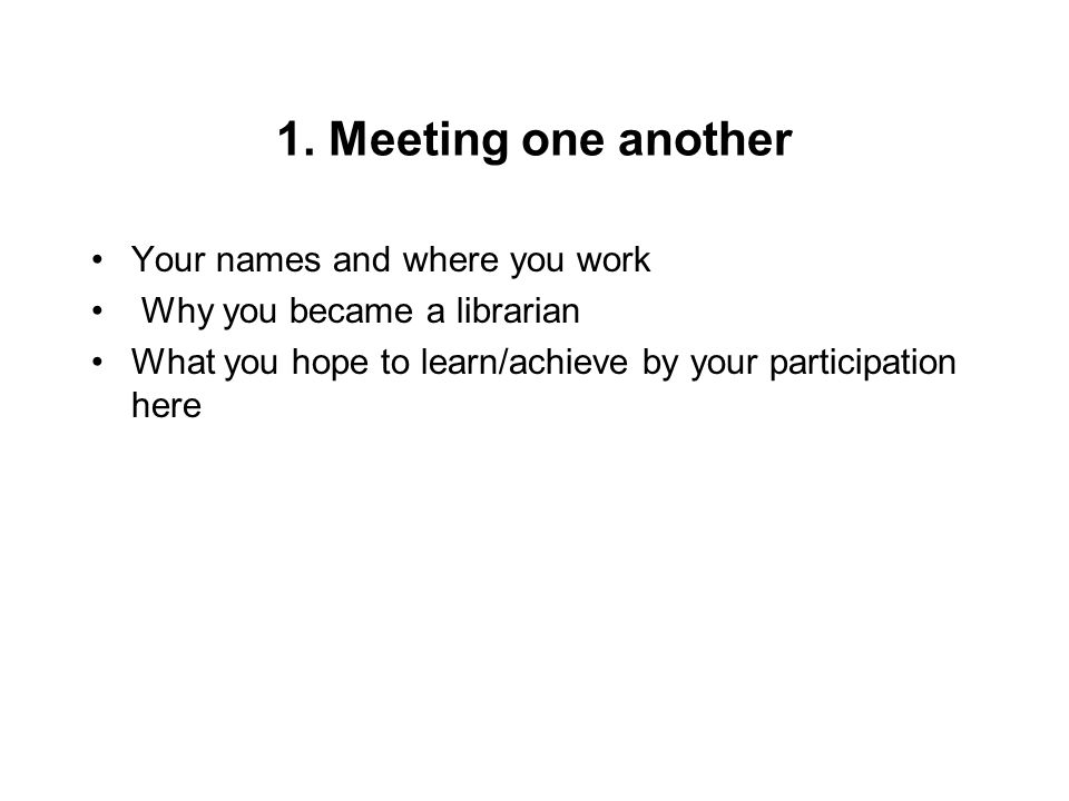6.Knowing your community: a self-administered checklist 1.