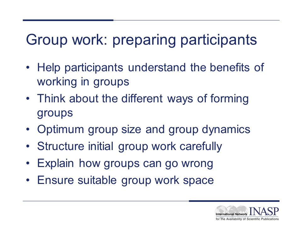 Forming groups Dependent on the task, consider what makes the best group.
