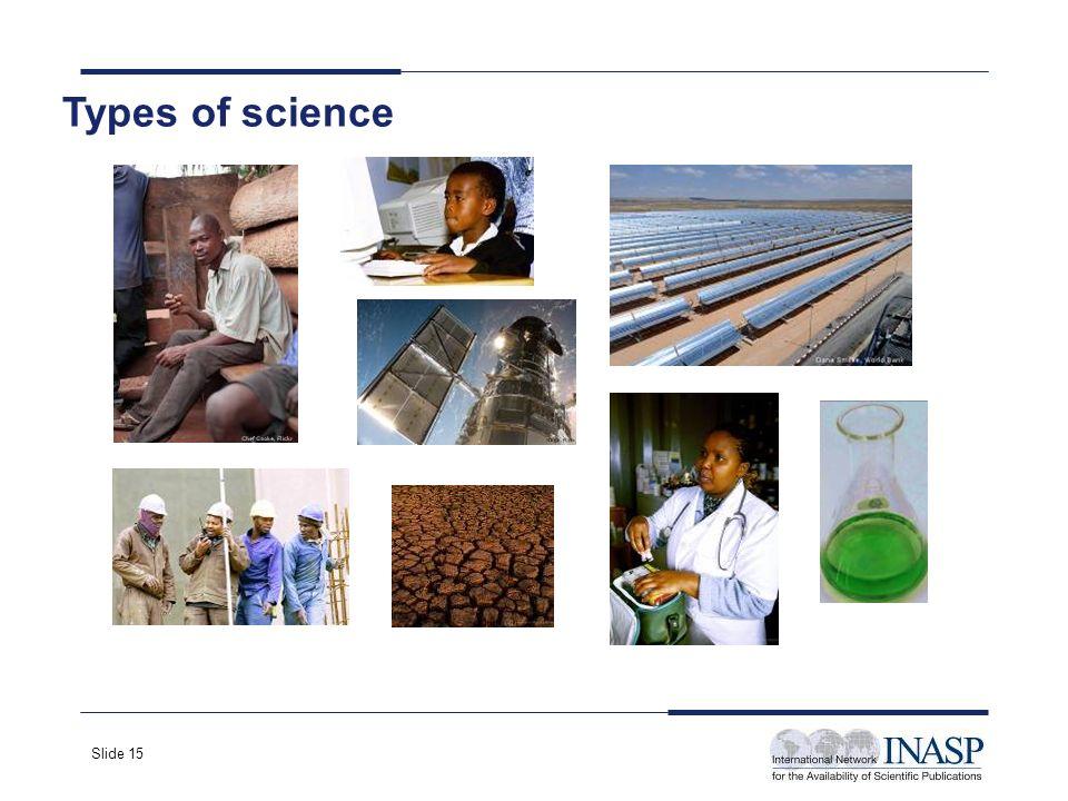 Slide 15 Types of science