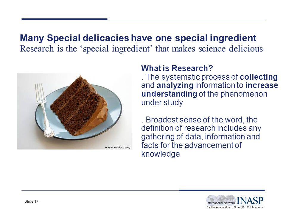 Slide 17 What is Research .