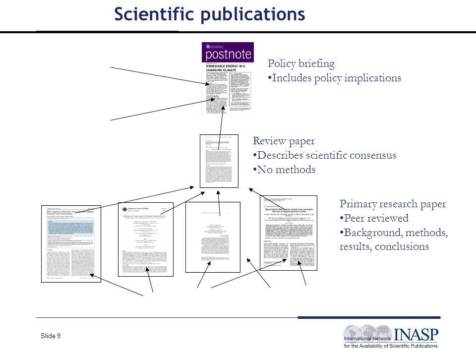 Slide 10 Quiz Define: Scientific consensus Peer-reviewed Control Group Placebo effect Hypothesis