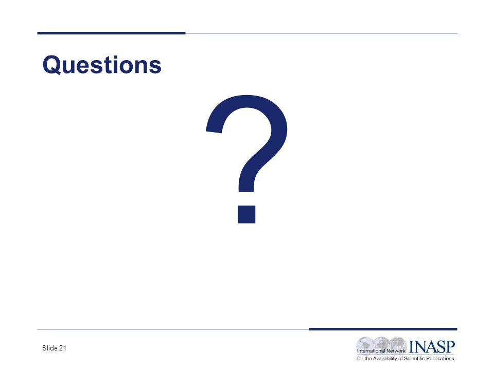 Slide 21 Questions