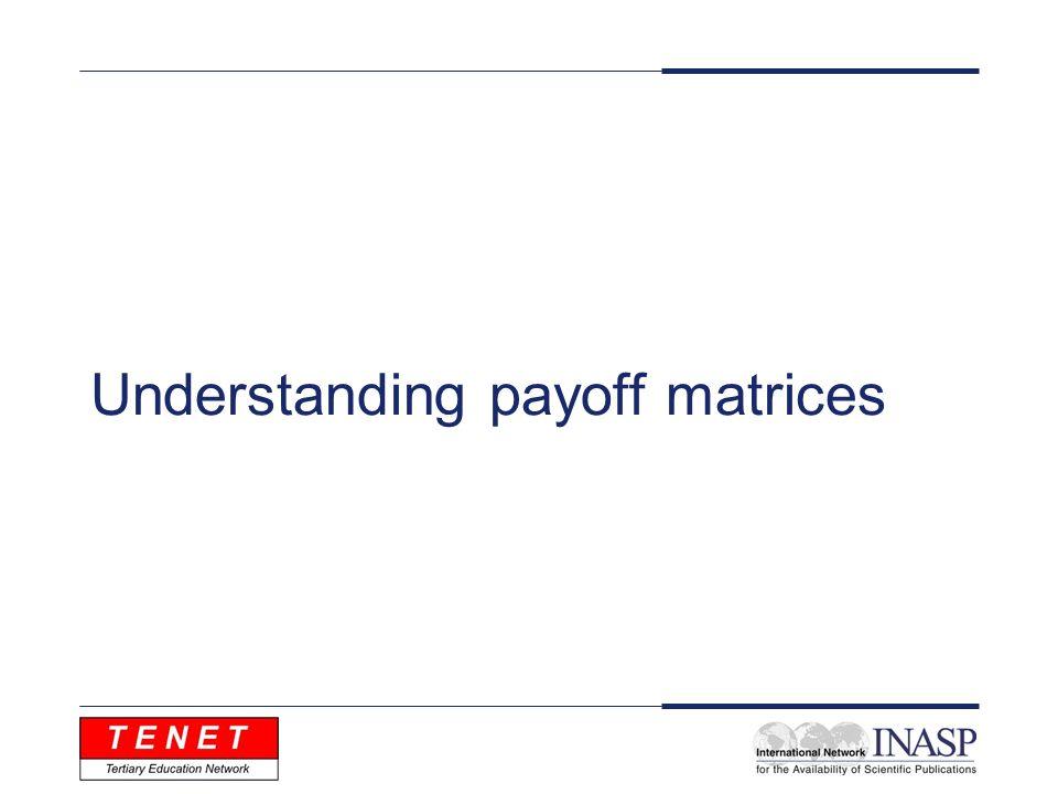 Understanding payoff matrices
