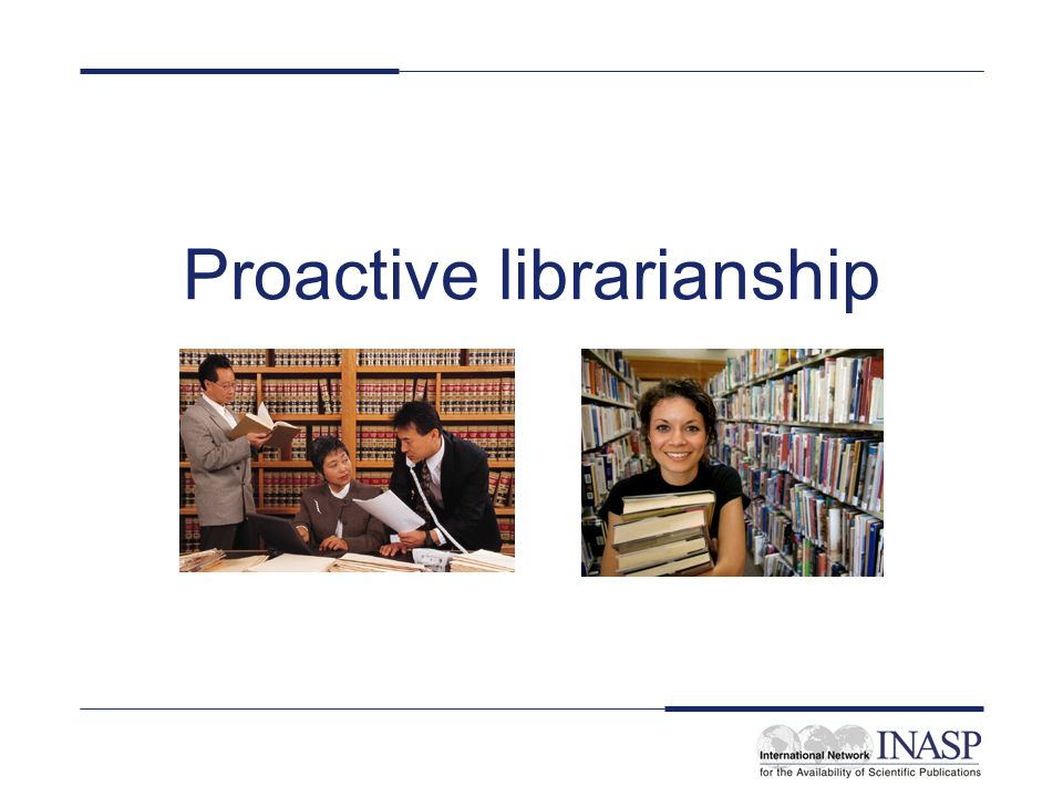 Proactive librarianship