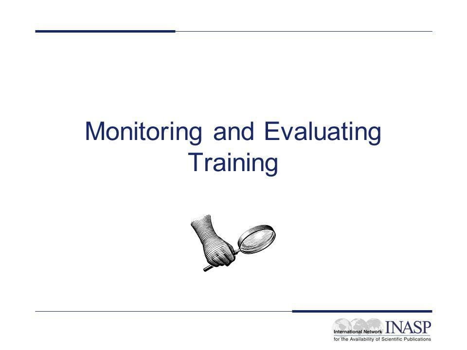 Monitoring and Evaluating Training