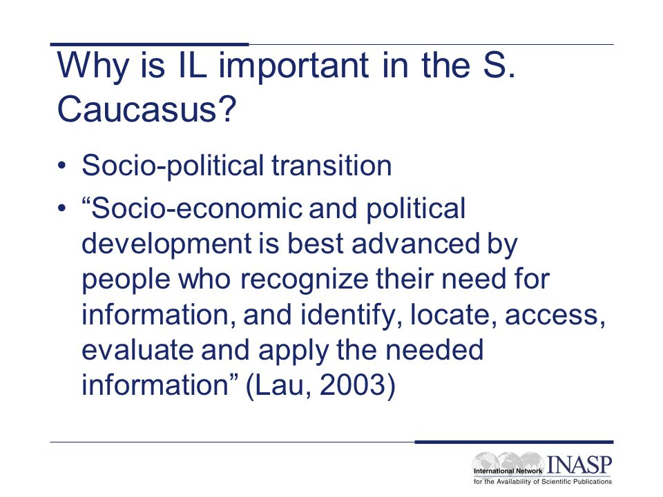 Why is IL important in the S.Caucasus.