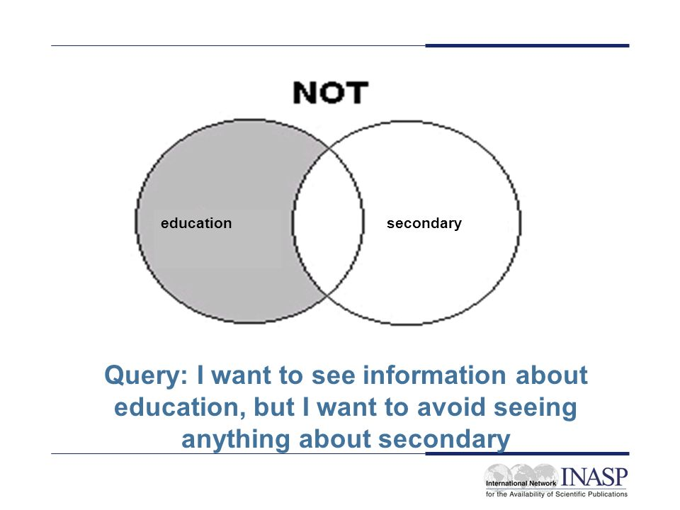 educationsecondary Query: I want to see information about education, but I want to avoid seeing anything about secondary