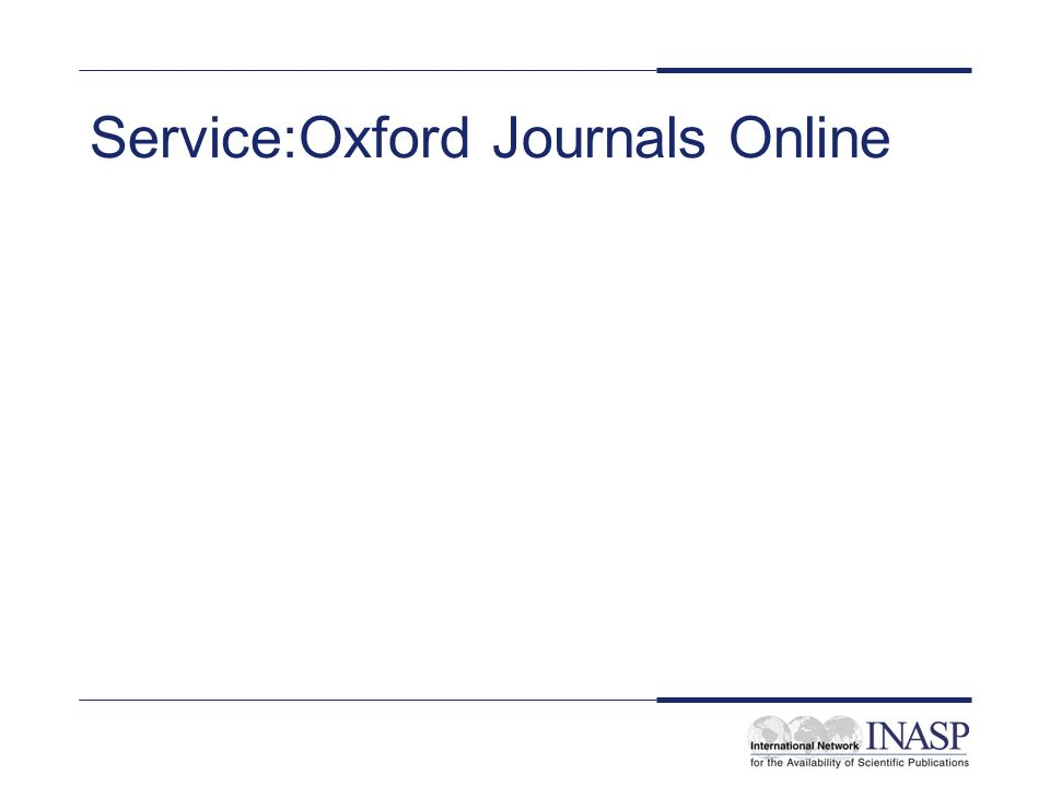 Service:Oxford Journals Online
