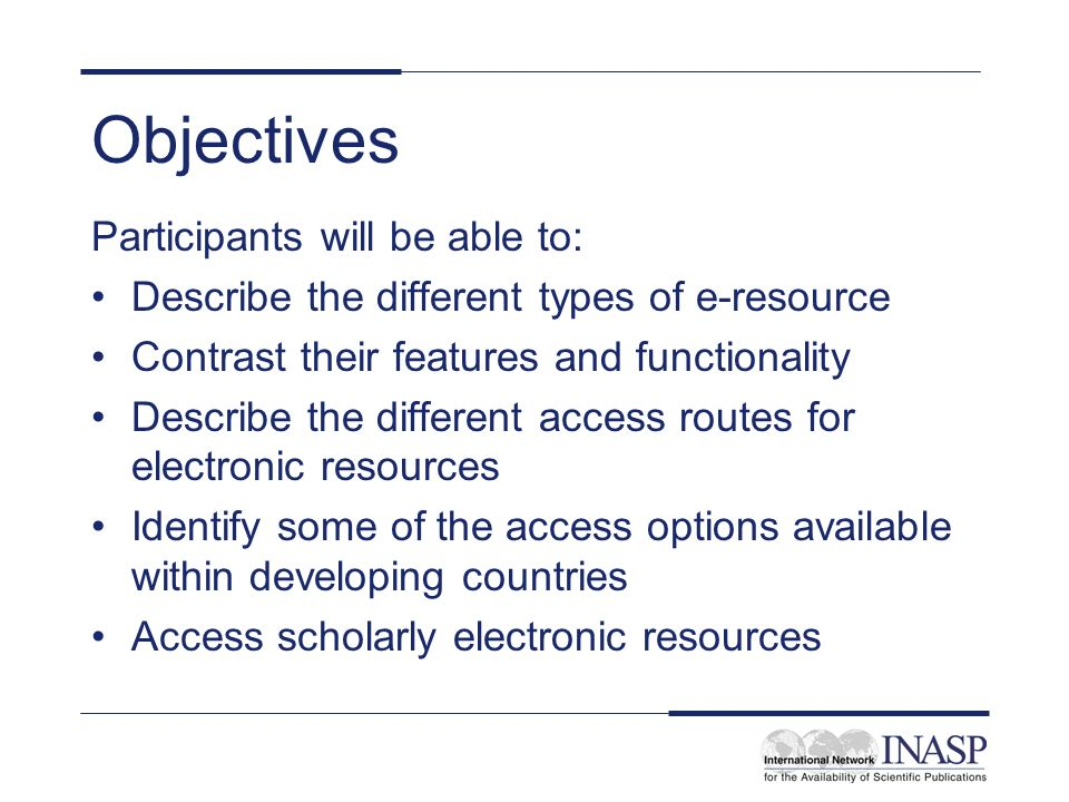 What is an electronic library resource.