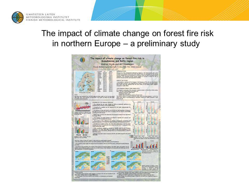 The impact of climate change on forest fire risk in northern Europe – a preliminary study