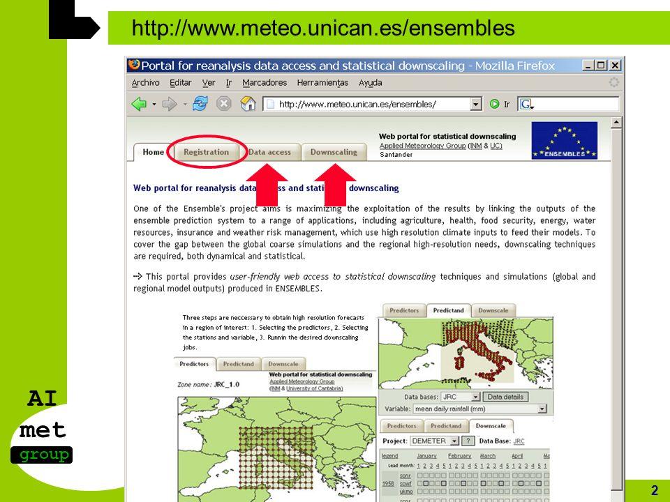 AI met group http://www.meteo.unican.es/ 2 http://www.meteo.unican.es/ensembles