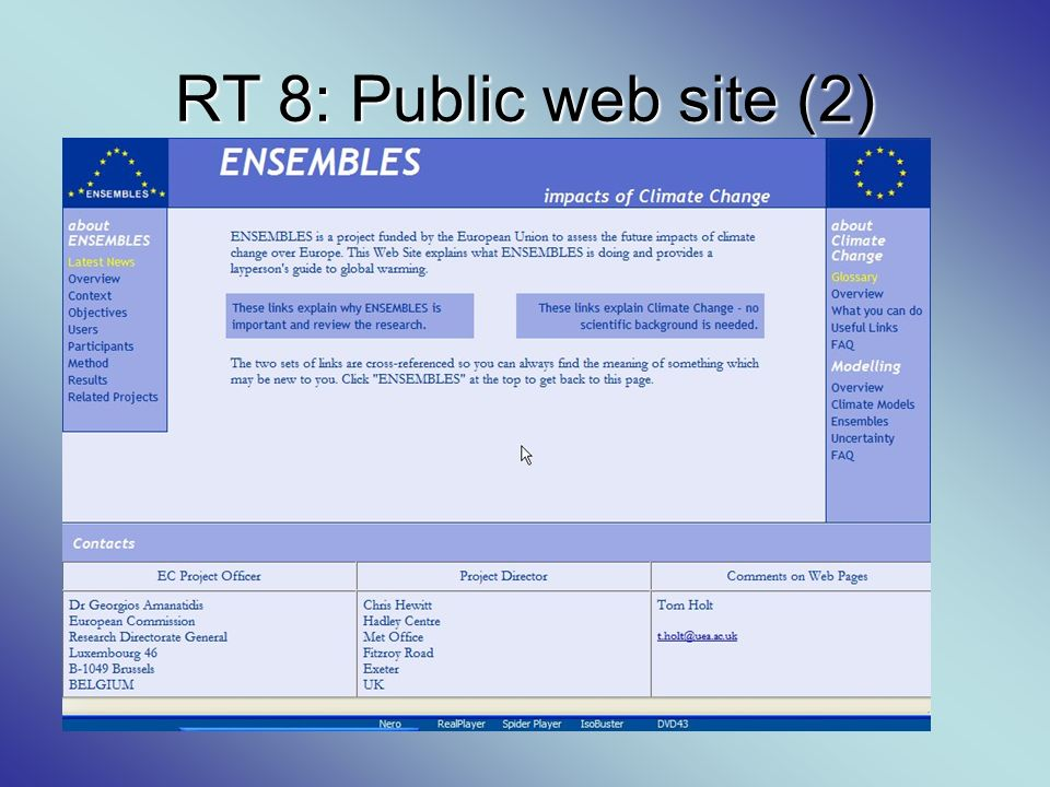 RT 8: Public web site (2)
