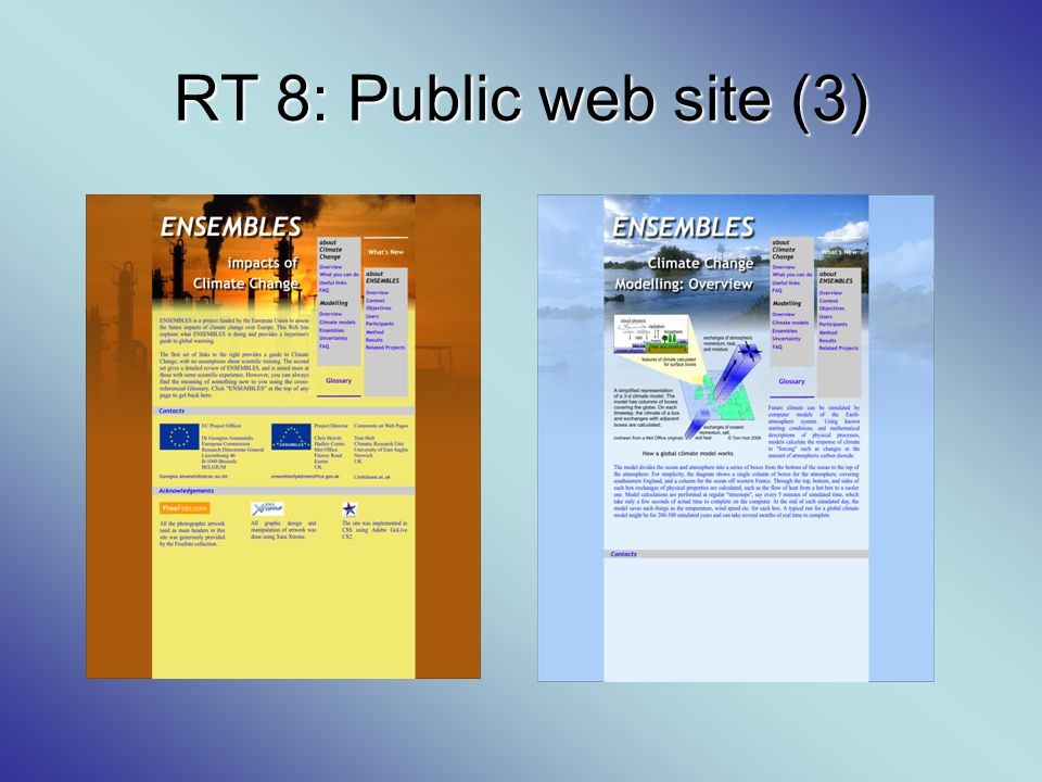 RT 8: Public web site (3)