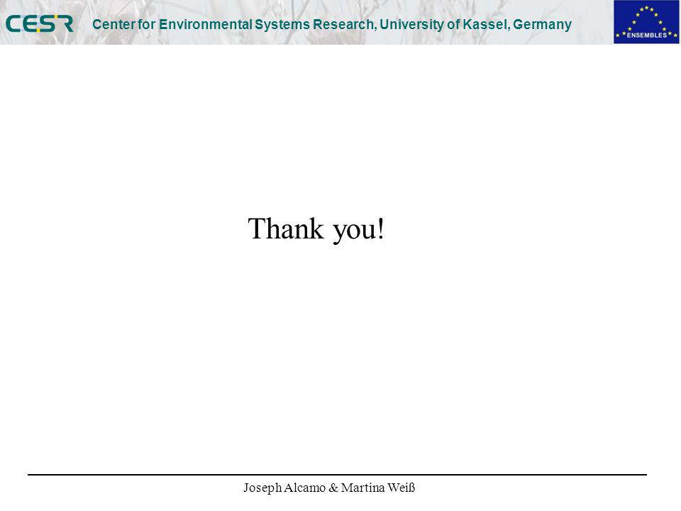 Joseph Alcamo & Martina Weiß Center for Environmental Systems Research, University of Kassel, Germany Thank you!