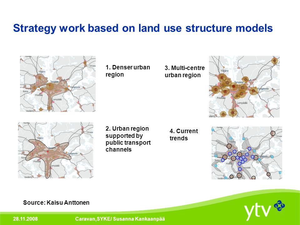 28.11.2008Caravan,SYKE/ Susanna Kankaanpää Strategy work based on land use structure models 1.