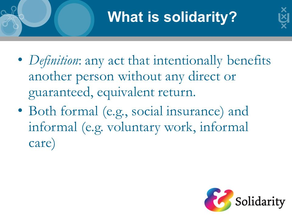 What is solidarity.