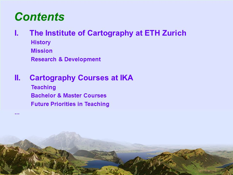 23 Planned Future Activities Within Conception of Cartography Courses...