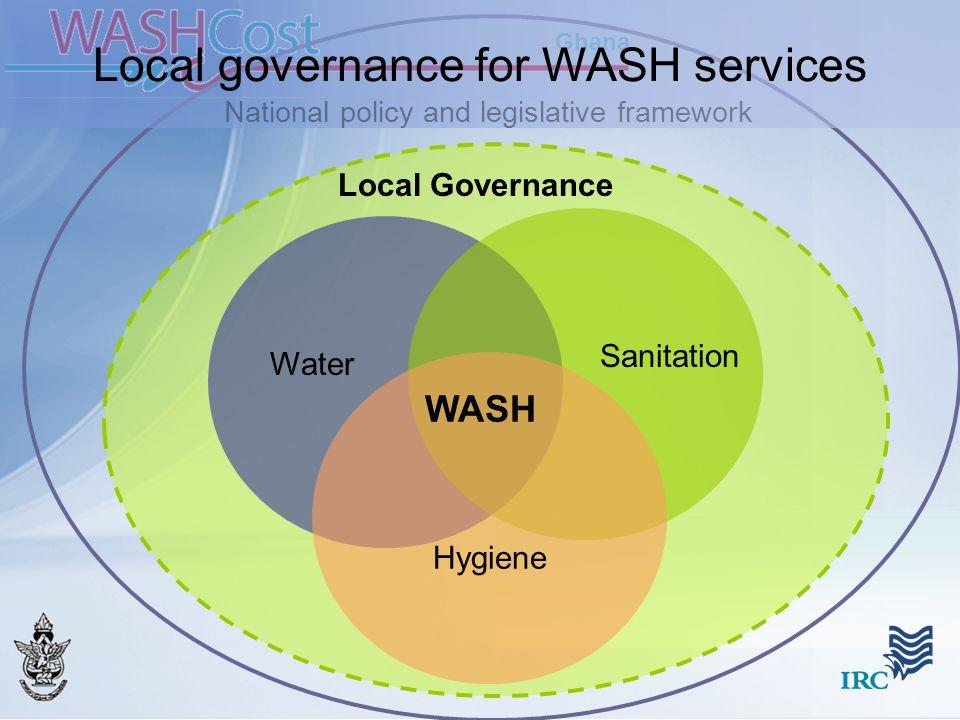 Ghana Water Sanitation Hygiene National policy and legislative framework WASH Local Governance Local governance for WASH services