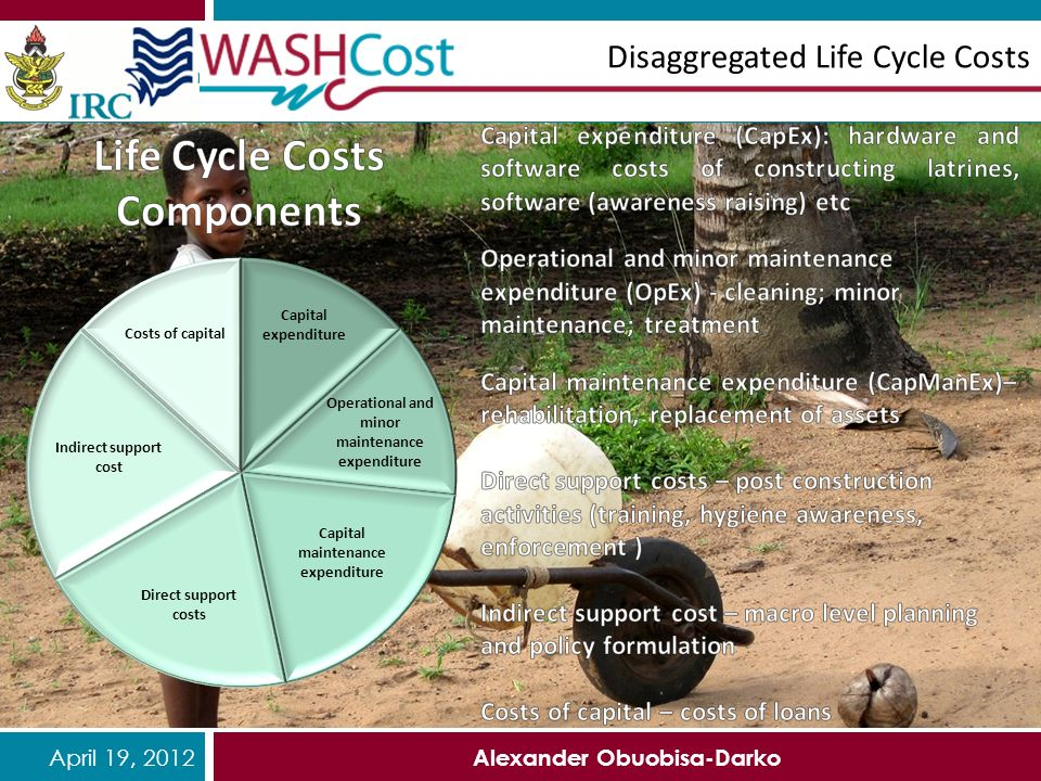 April 19, 2012 Alexander Obuobisa-Darko Disaggregated Life Cycle Costs