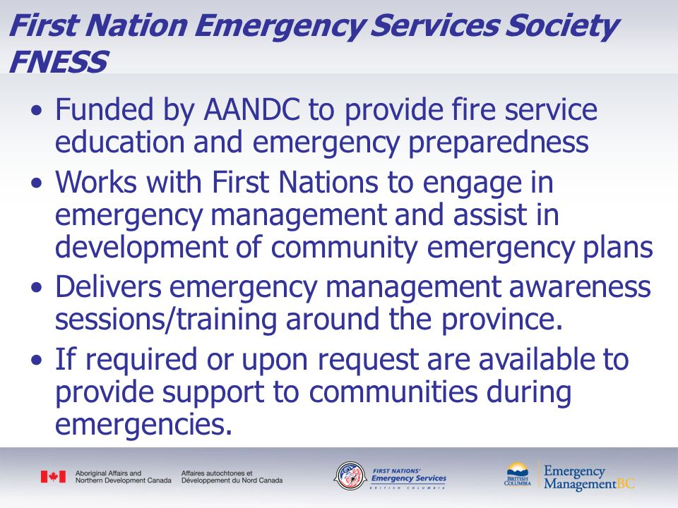 First Nation Emergency Services