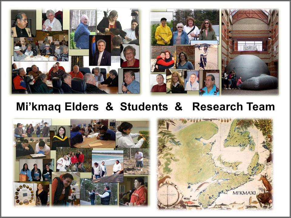Mikmaq Elders & Students & Research Team