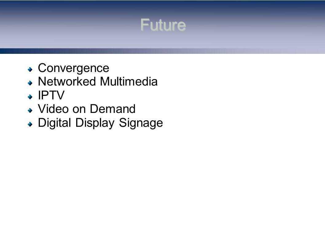 Future Convergence Networked Multimedia IPTV Video on Demand Digital Display Signage