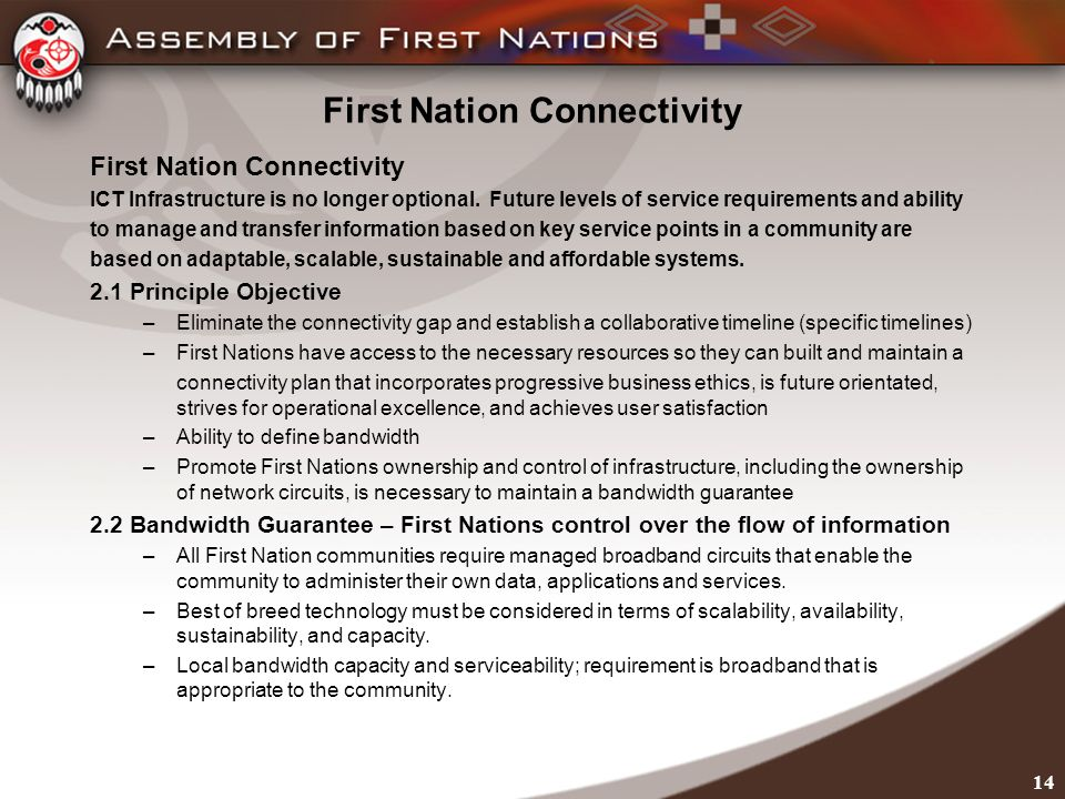 First Nation Connectivity ICT Infrastructure is no longer optional.