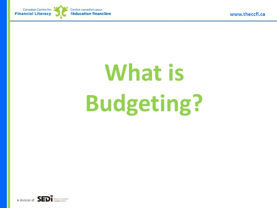 A division of What is Budgeting