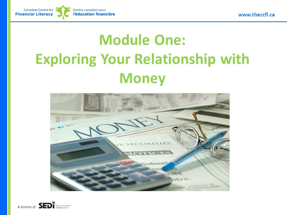 A division of Module One: Exploring Your Relationship with Money