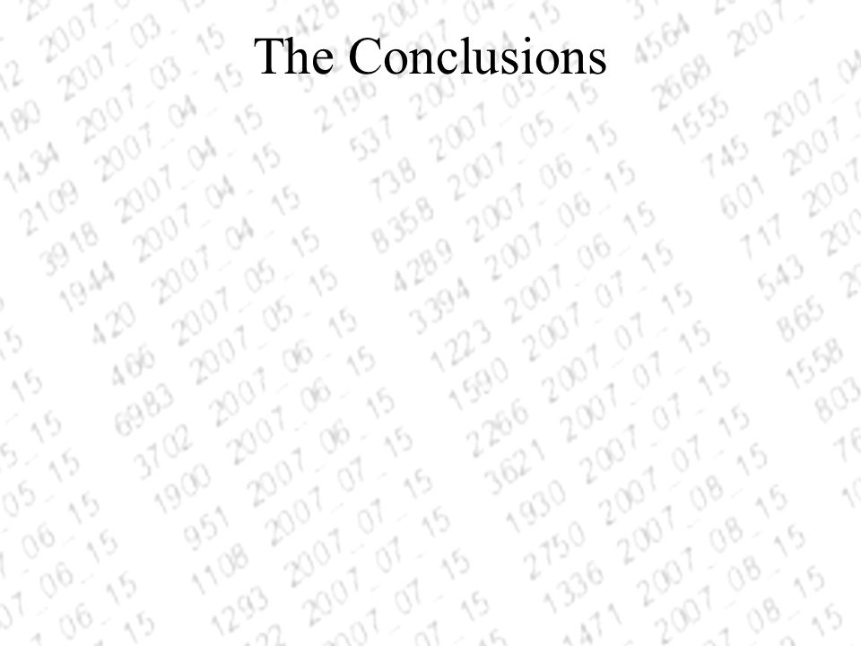 The Conclusions