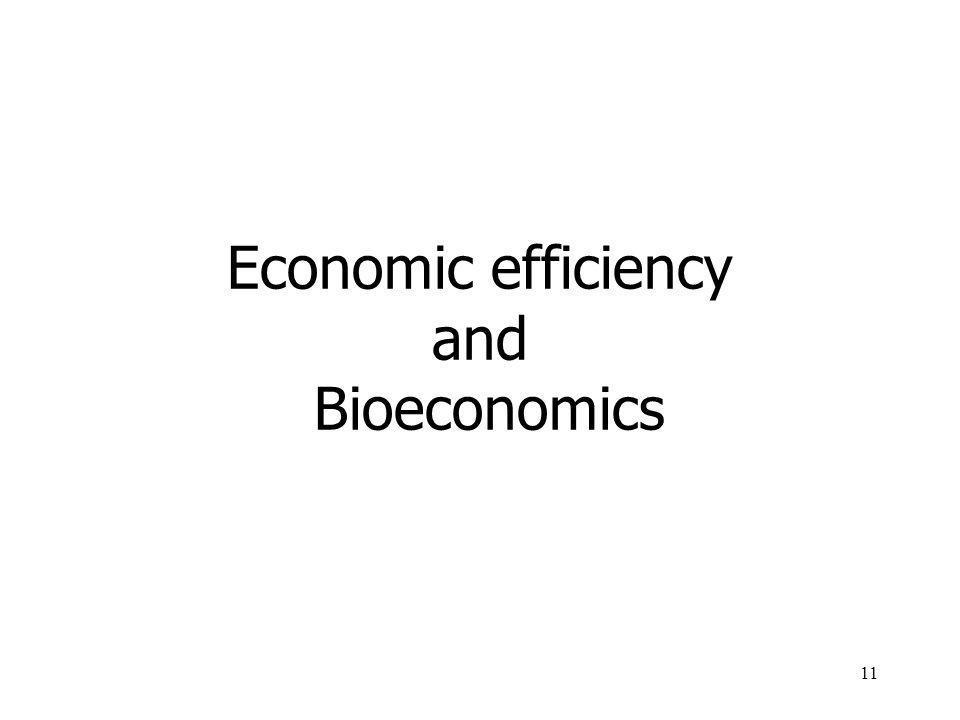 11 Economic efficiency and Bioeconomics
